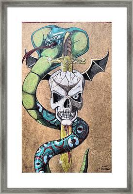 imaginative Simbol Framed Print by Alban Dizdari