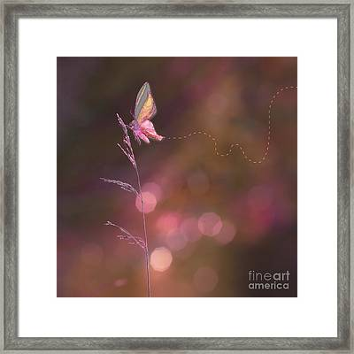 Imagine ... Believe It - 01a Framed Print by Variance Collections