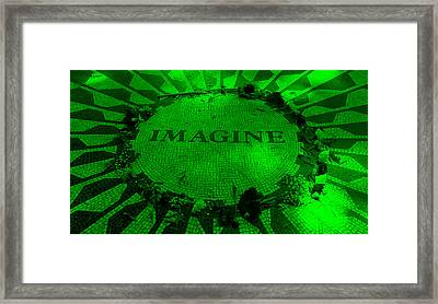 Imagine 2015 Green Framed Print by Rob Hans