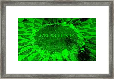Imagine 2015 Negative Green Framed Print by Rob Hans