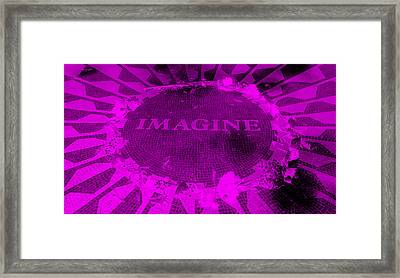 Imagine 2015 Negative Purple Framed Print by Rob Hans
