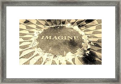 Imagine 2015 Negative Sepia Framed Print by Rob Hans