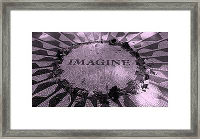 Imagine 2015 Pink Framed Print by Rob Hans