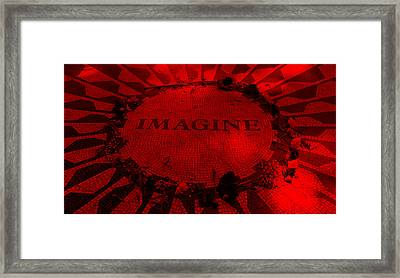 Imagine 2015 Red Framed Print by Rob Hans