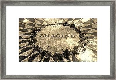 Imagine 2015 Sepia Framed Print by Rob Hans