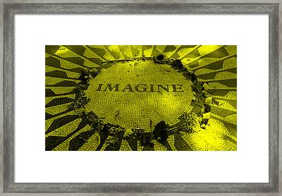 Imagine 2015 Yellow Framed Print by Rob Hans