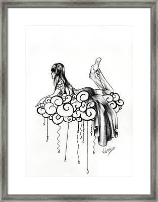 Imagine A Cloud Framed Print by Vicki Chapman