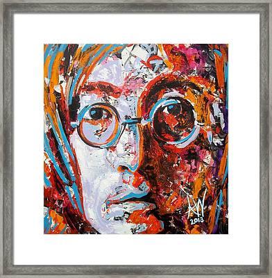 Imagine Framed Print