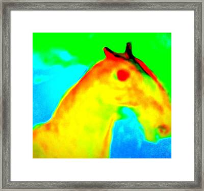 Imagine All The People And All The Horses  Framed Print by Hilde Widerberg