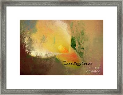 Imagine Calla Lily Abstract Framed Print