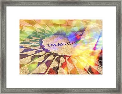 Imagine Colors Framed Print