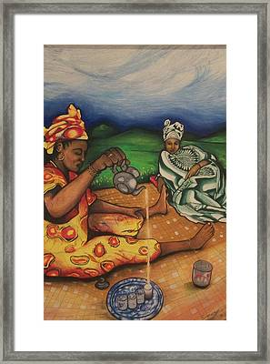 Framed Print featuring the painting Imagine by Emery Franklin