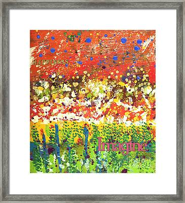 Imagine Happiness Framed Print by Angela L Walker