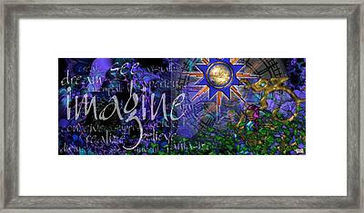 Imagine Framed Print by Kenneth Armand Johnson