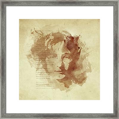 Imagine Framed Print by Laurence Adamson