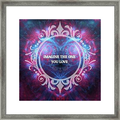 #imagine #love #heart #art #digitalart Framed Print by Michal Dunaj