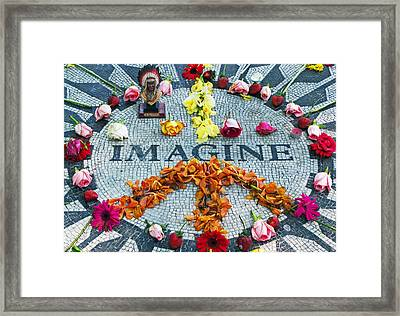 Imagine Peace Framed Print by Sharla Gentile