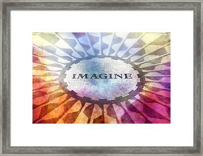 Imagine Sign Framed Print