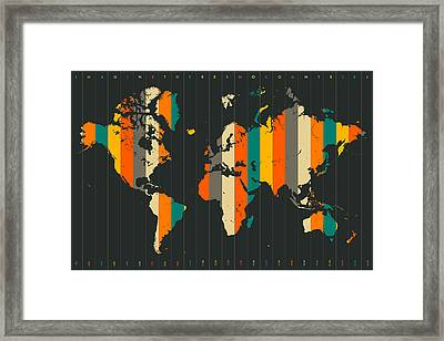 Imagine There's No Countries Framed Print