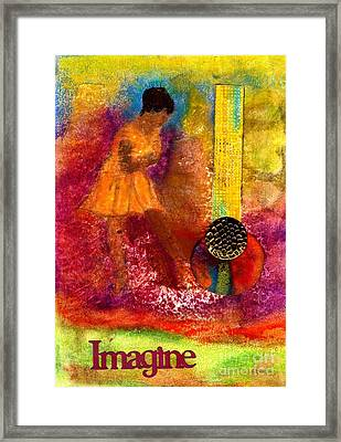 Imagine Winning Framed Print by Angela L Walker