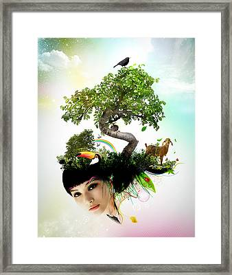 Imagine Your World Framed Print by Pedro Ferreira