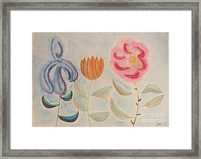 Framed Print featuring the painting Imagined Flowers Two by Rod Ismay
