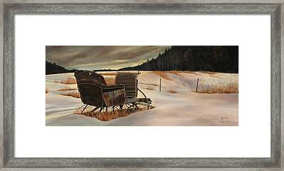Imaginery Sleigh Ride Framed Print by Keith Gantos