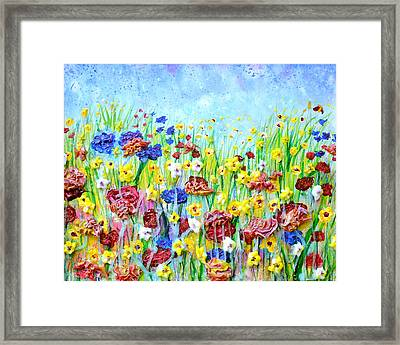 Imagining A Meadow Framed Print by Regina Valluzzi