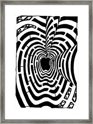 iMaze Apple Ad Maze Idea Framed Print by Yonatan Frimer Maze Artist
