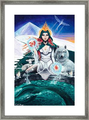 Imbolc/candlemas Framed Print by Nichol Skaggs