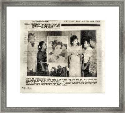 Imelda Marcos 1967 B Framed Print