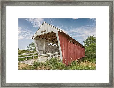 Framed Print featuring the photograph Imes Covered Bridge by Susan Rissi Tregoning