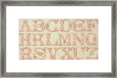 Imitation Saxon Framed Print by English School