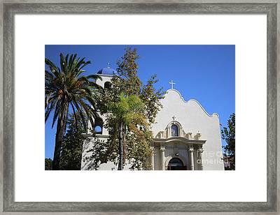 Immaculate Conception Church San Diego Framed Print by Carol Groenen