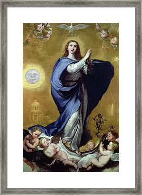 Immaculate Conception Framed Print by Jusepe de Ribera