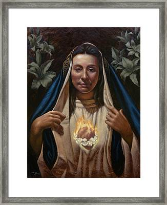Immaculate Heart Framed Print by Timothy Jones