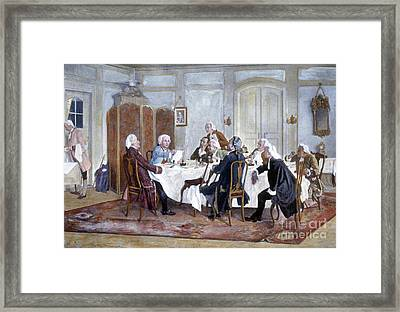 Immanuel Kant And His Comrades Framed Print