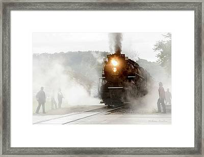 Immersed In Steam Framed Print