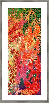 Immersed In Summer Part 3 Of 3 Framed Print by Jennifer Lommers