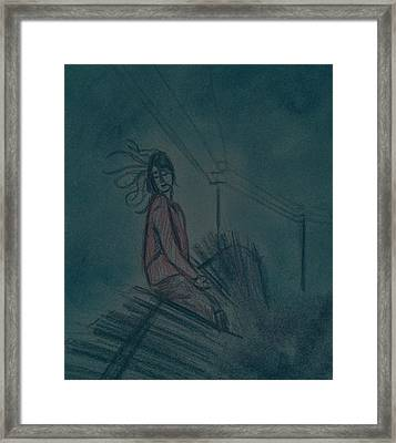 Immersed In The Moment Framed Print by Vineeth Menon