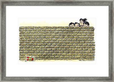 Immigrant Kids At The Border Framed Print