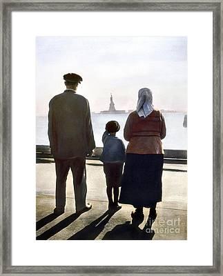 Immigrants: Ellis Island Framed Print