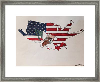 Immigration Framed Print by Ethan Altshuler