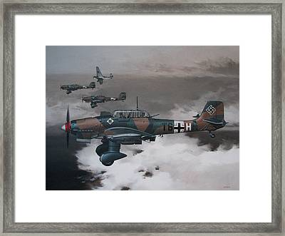 Imminent Storm Framed Print by Curtis Chapline