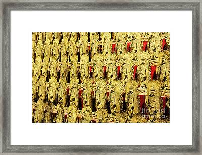 Immovable King Statues Framed Print by Jeremy Woodhouse