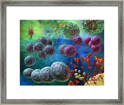Framed Print featuring the photograph Immune Response Antibody 4 by Russell Kightley