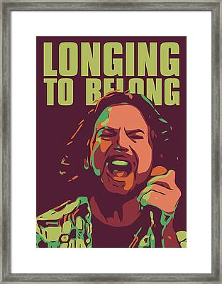 Eddie Vedder Framed Print by Greatom London
