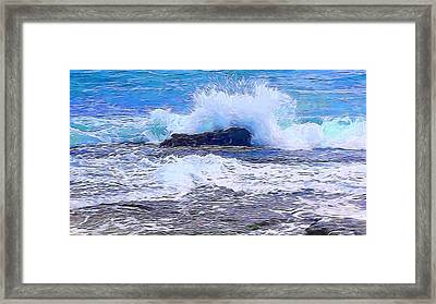 Ocean Impact In Abstract 1 Framed Print