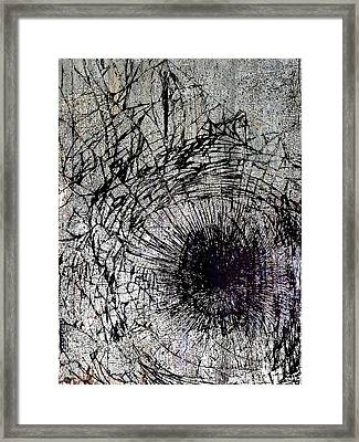 Framed Print featuring the mixed media Impact by Tony Rubino