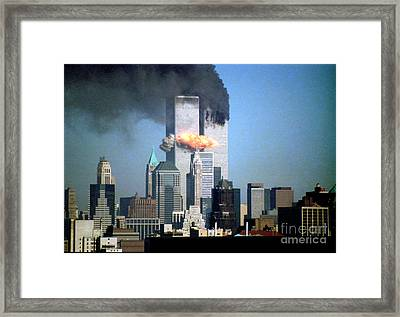 Impact Tower 2 Framed Print